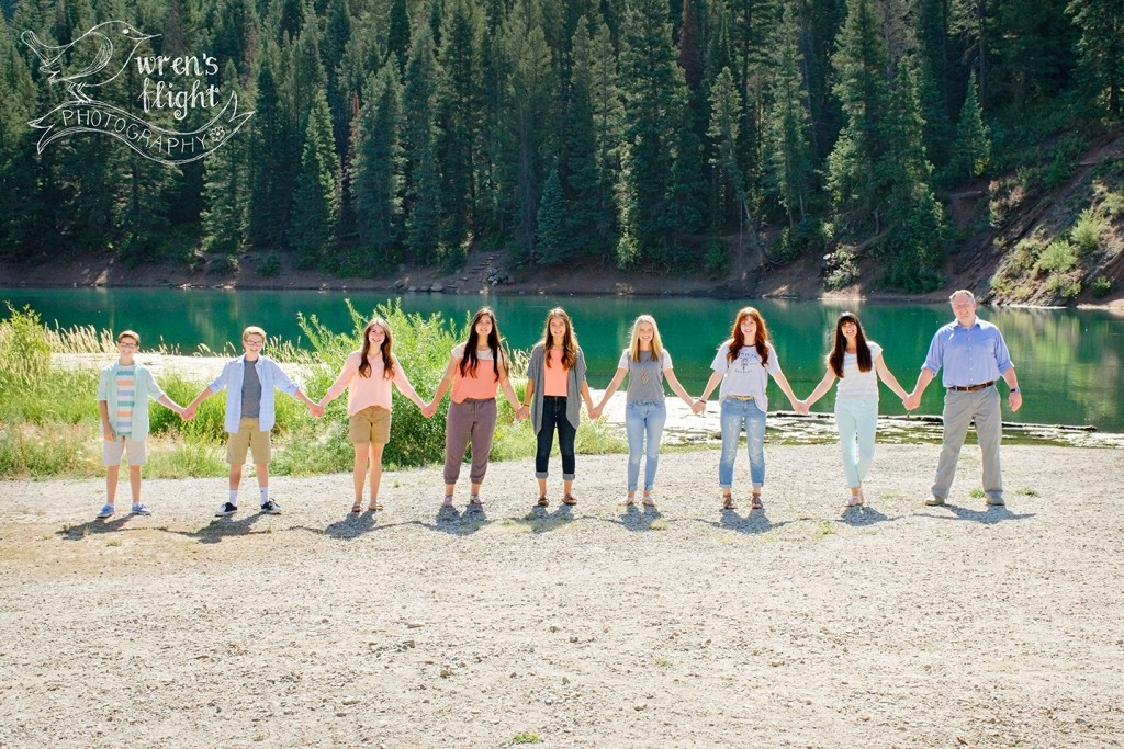 Family Holding Hands American Fork Canyon Photography