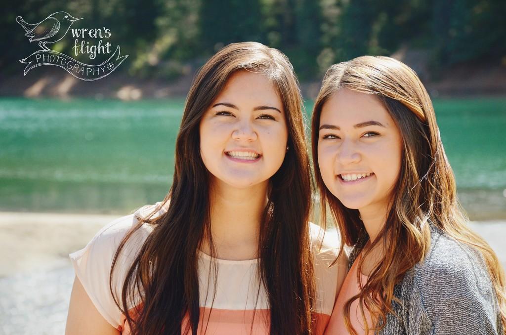 Sisters Group Photo Mountain Lake