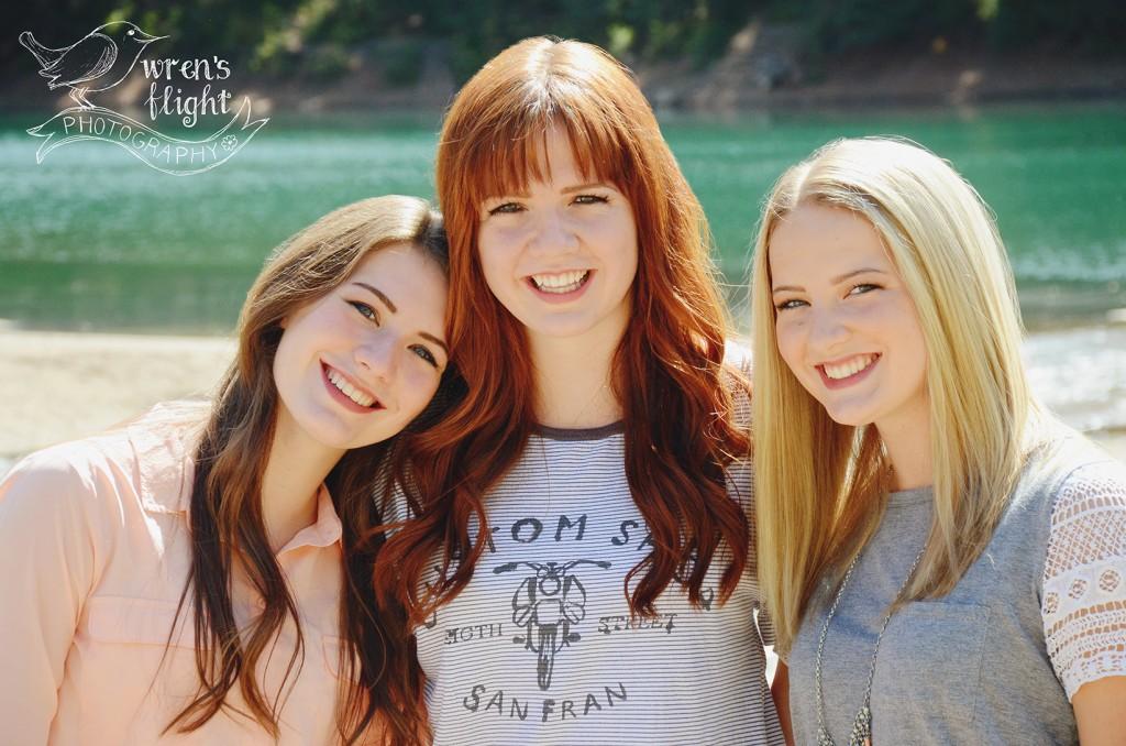 Sisters Group Photo Mountain Lake Utah