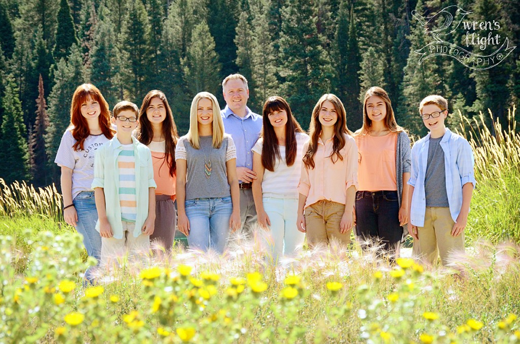 Wildflower mountainside family photos