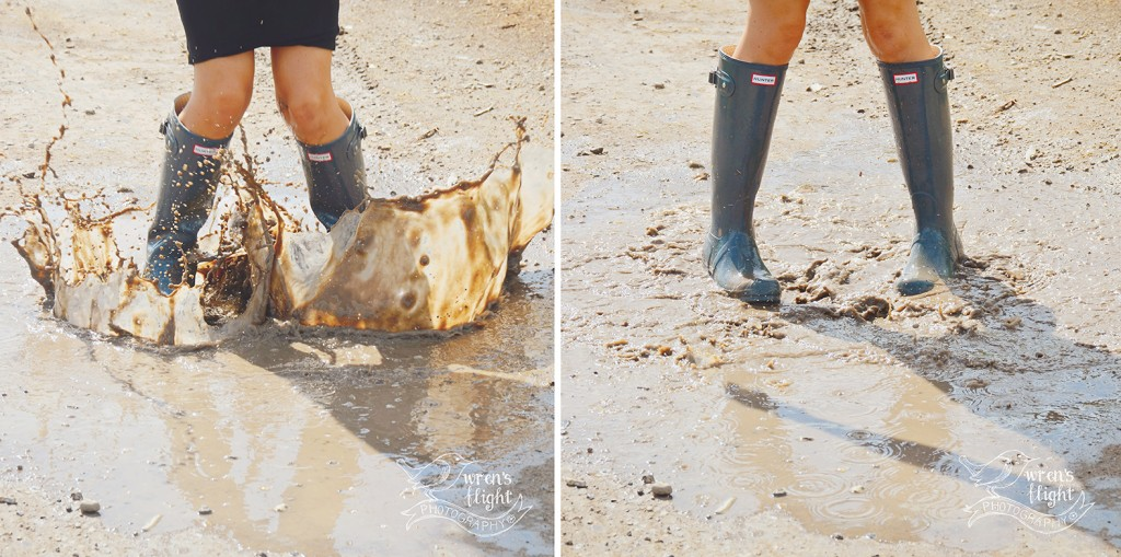 Hunter Rain Boots Puddle Splasing