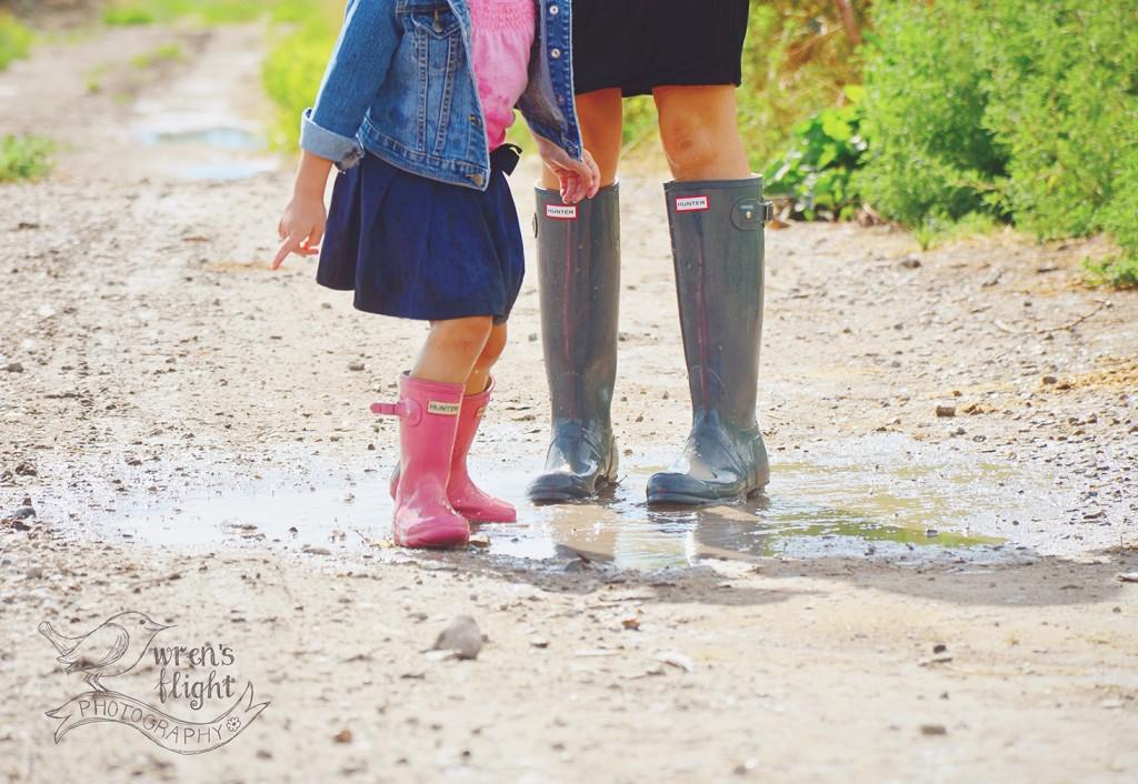 Hunter Rain Boots Puddle Splasing Mud
