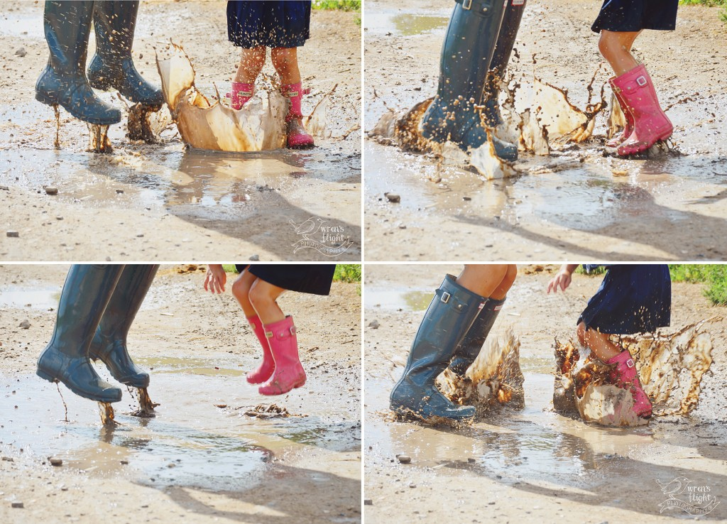 Mother Daughter Puddle Jumping Photo Shoot
