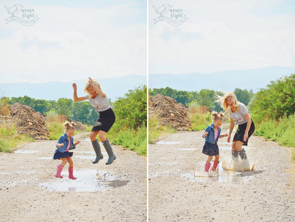 Mother Daughter Puddle Jumping Summer