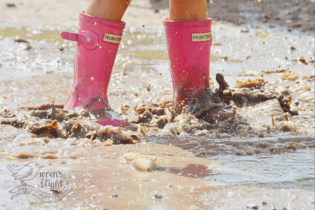 Pink Rain Boots Mud Puddle