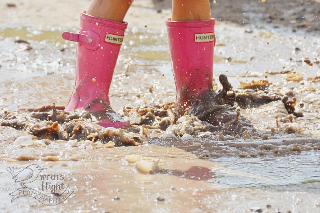 Pink Rain Boots Mud Puddle