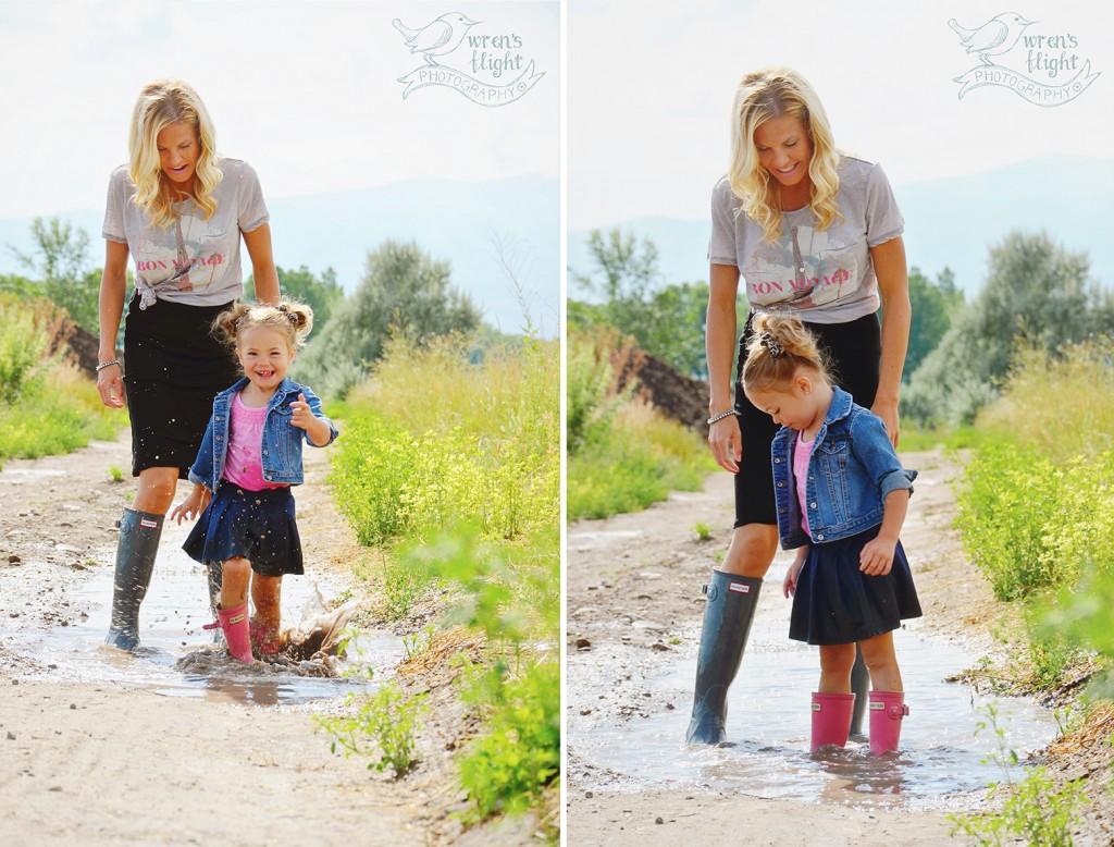 Splashing in Mud Puddles Family photo