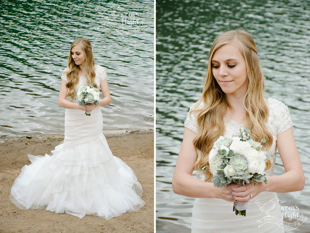 Utah Bridal Photography Tibblefork Lake Turquoise Beach