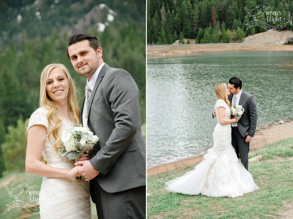 Utah Mountain Lake Wedding Pictures