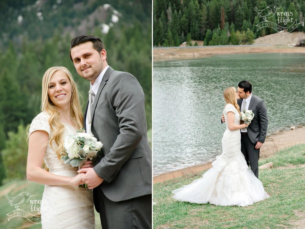 Utah Mountain Lake Wedding Pictures